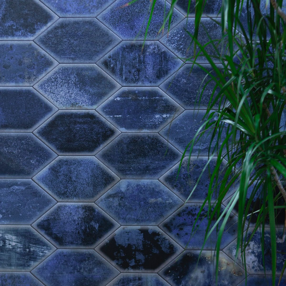 Adorno Hexagon Blue 7x13 Matte Porcelain Tile