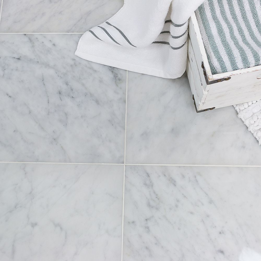Carrara 12X12 Polished Marble Tile