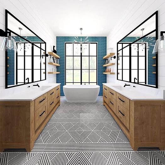 bathroom porcelain floor tile